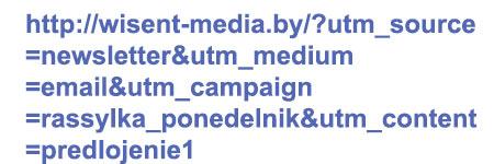 Пример ссылки с utm метками